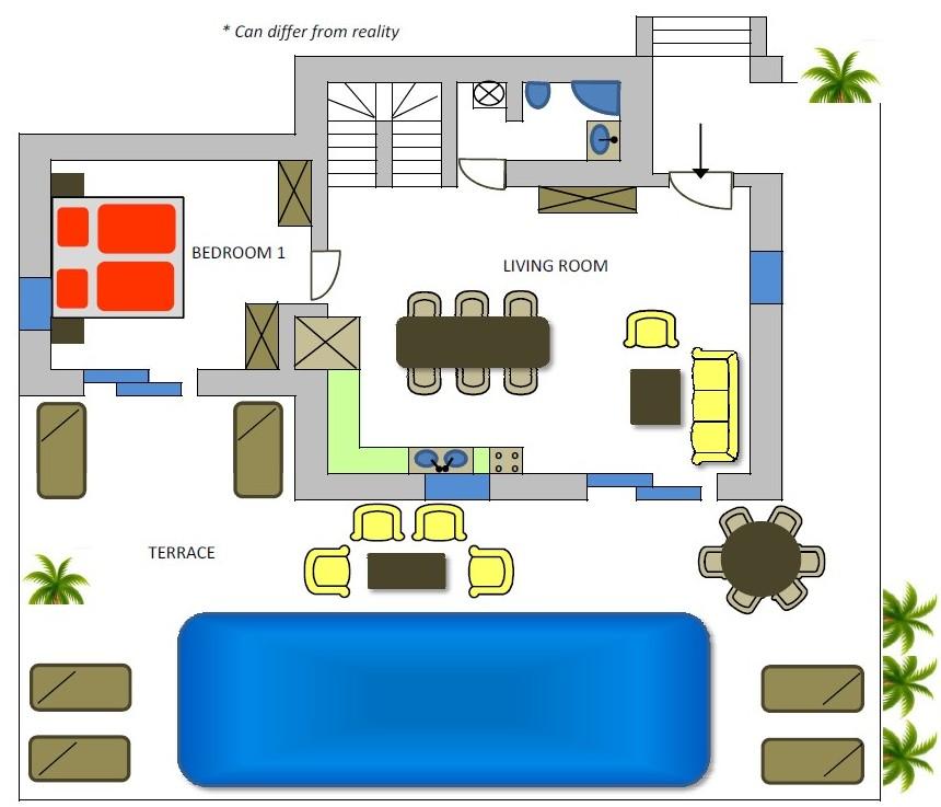 Villa Adam 1st floor plan