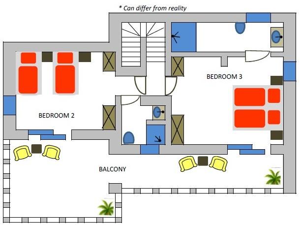 Villa Adam 2nd floor plan