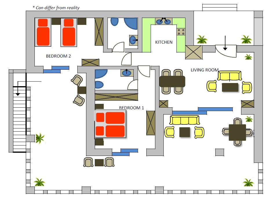 Villa Eva 2nd floor plan