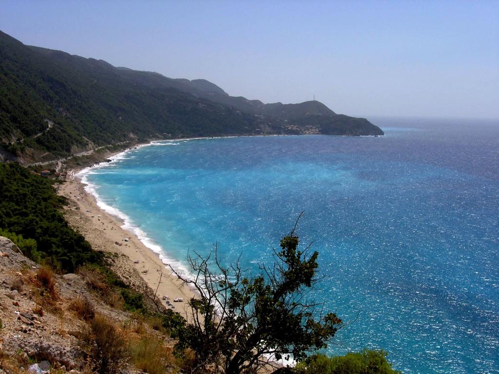 Pefkulia beach and Agios Nikitas